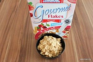 Cornflakevergleich Gletscherkrone Gourmet Flakes Red Fruit